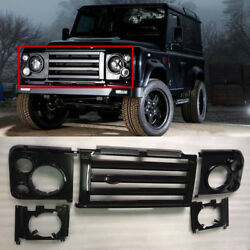 For Land Rover Defender Car 5pcs Front Grille Headlight Cover Turn Signal Cover