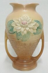 Hull Art Pottery Brown Water Lily 10-1/2 Vase 13