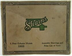 1922 Stearns Knight 4 Cylinder Cars Assembly Drawings And Price List Of Parts Orig
