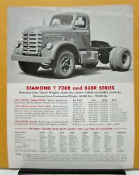 1960 1961 Diamond T Truck Model 738r 838r Sales Brochure And Specifications