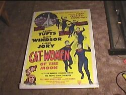 Cat Women Of The Moon 1953 Orig Movie Poster Horror Sci Fi Classic