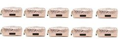 10 x Victoria's Secret leopard zipper close makeup cosmetic bag pencil case new