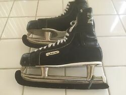 Bauer 1960's Vintage Black Panther Ice Hockey Skates. Made In Canada. Size 11 .