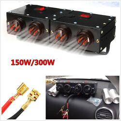 150W300W Adjustable 4-Holes Car Double Switch Heating Dry Heater Fan Defroster