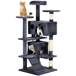 New 53.5'' Cat Tree Tower Condo Furniture Scratching Post Pet Kitty Play House