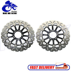 1 Pair Front Brake Disc Rotor For Ducati 1199 Panigale R S And 1098 1198 07 08 New