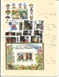 Tuvalu Collection Of Mint Nh Sets And Sheets On 4 Stock Pages 1984-1987