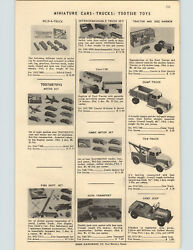 1954 Paper Ad Tootsietoy Toy Ford Fordson Tractor And Box Image Army Jeep Dump