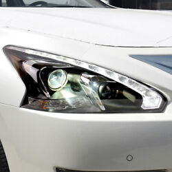 For Altima 2013-2015 LED Head Lamps Teana Front Light Projector Lens