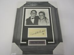 Spanky Mcfarland Little Rascals Signed Framed Matted Cut Auto W/photo Cas Coa