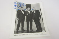 The Mills Brothers Singers Entertainers Signed Autographed 8x10 Promo Photo Coa