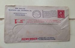 Antique 1912 Us Postage Stamp On New England Telephone And Telegraph Envelope