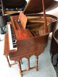 Antique Apollo Wurlitzer Baby Grand Piano  Pianodisc Cd Player W/ Yamaha Bench