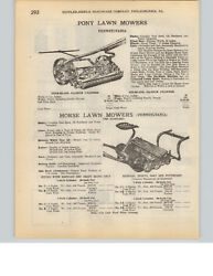 1927 Paper Ad 2 Pg Pennsylvania Brand Pny Horse Drawn Lawn Mower Golf Course
