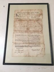 Revolutionary War Era Ct Land Deed Dated July 10 1776 Early Official Document