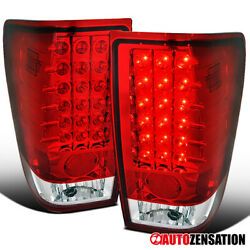 For 2004-2015 Nissan Titan Red Led Tail Lights Brake Lamps Left+right 04-15