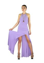 VINTAGE GIANNI VERSACE COUTURE OPEN BACK LILAC SILK DRESS 42 + bag