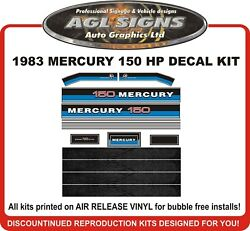 1983 Mercury 150 Hp Reproduction Decal Kit 200 Hp Also Available