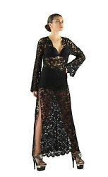 SS 1996 VINTAGE ICONIC TOM FORD for GUCCI BLACK LACE TUNIC DRESS