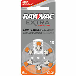 RAYOVAC EXTRA HEARING AID BATTERIES SIZE 13 NEW pack 60 pcs
