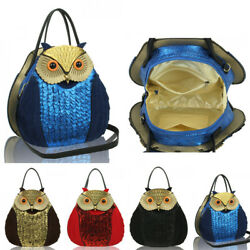 LeahWard Women's Cute Owl 3D Owl Bag For Kids Girls Women's Animal Naivety Bags