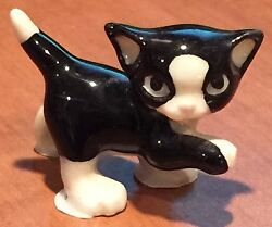 ➸ HAGEN RENAKER Cat Miniature Figurine Black and White Cat Kitten Playful