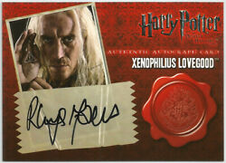 Harry Potter Deathly Hallows Part 1 Rhys Ifans Auto Card Xenophilius Lovegood