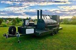 Custom built BBQ pit Charcoal grill Smoker concession Trailer 35' tandem axle
