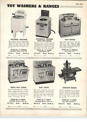1955 Paper Ad Marx Wolverine Toy Play Stove Kitchen Cabinet Cupboard Cast Iron