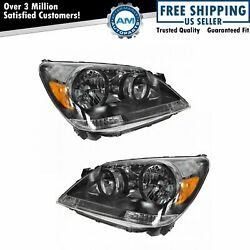 Headlights Headlamps Left And Right Pair Set For 2005-2007 Honda Odyssey