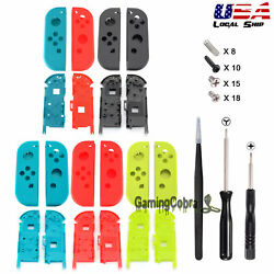 For Nintendo Switch Joy Con Full Set Cover Shell + Middle Plate Screwdriver Tool
