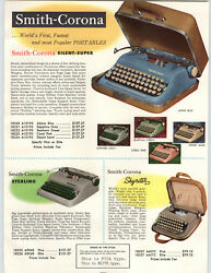 1958 Paper Ad Smith Corona Silent Super Portable Typewriter Sterling Skyriter