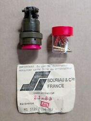 X10 Lot Souriau Connector, Plug, Electrical Ms3126f14-15p / Ms3126f1415p