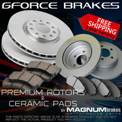 Front+rear Premium Rotors And Ceramic Pads For 2007-2013 Acura Mdx