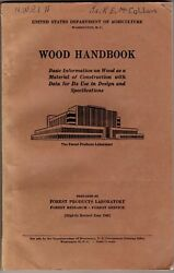 Wood Handbook: Basic Information on Wood as a Material of Construction 1940