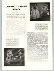 1938 Paper Ad 2 Pg Toy Piracy Article All Metal Trucks Knickerbocker Snow White