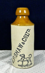 Old Stoneware E.p. Shaw And Co. Ltd. Beer Bottle Bourne 1 Denby, England
