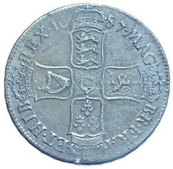 James Ii 1687 Crown British Silver Coin Gvf
