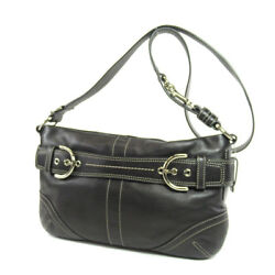 COACH  9412 Shoulder Bag Simple Design Leather
