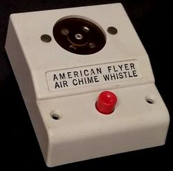 American Flyer No. 708 Air Chime White Whistle Control Box W/o Signal Generator