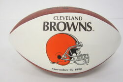 Cleveland Browns 1998 Nfl Official White Panel Logo Football Limited Edition