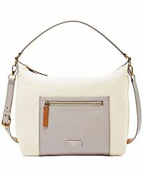 NEW Fossil Vickery Leather Shoulder Crossbody Purse ZB6459189 $218 NWT White Bag