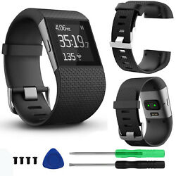 Replacement Strap Band Wristband Large for Fitbit Surge Watch Activity Tracker $7.83