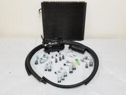 Universal 134a Air Conditioning Ac Hose Drier Kit + Black Compressor And Condenser