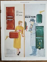 1953 Buxton wallets key holder men#x27;s women#x27;s for him for her vintage ad $9.99