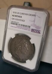 G.b - George Iii - One Crown 1818 Lix -km 675-certified By Ngc Au Details