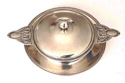 An Antique Small Solid Silver Warming Dish Or Sauce Bowl Produced By Wolfers