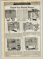 1939 Paper Ad Empire Toy Electric Range Stove Oven Little Lady Cinderella Theme
