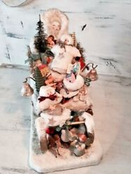 Antique German Christmas Child Large Sleigh Toy