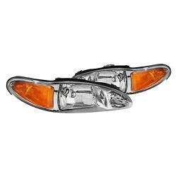 For Ford Escort 1997-2002 Lumen 87-1001830 Chrome Factory Style Headlights